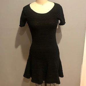 Black knit size medium fit and flair dress